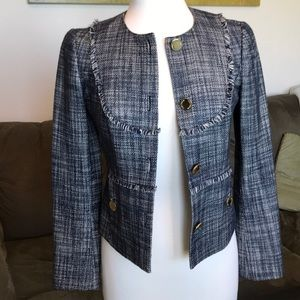 Tory Burch Navy/White Blazer with Gold Buttons